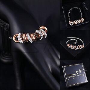 Armschmuck-Armband-Bewegliche-Ringe-Weissgold-pl-Swarovski-Elements-Etui