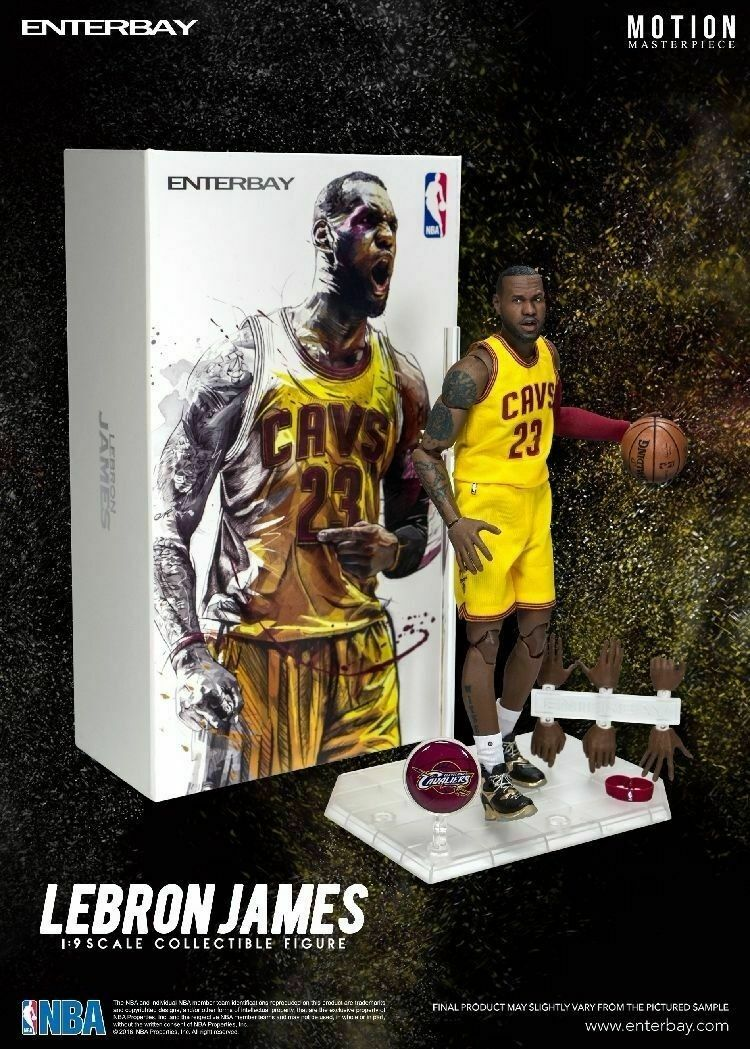 Lebron James ENTERBAY Masterpiece Motion Series 2 1 9 scale CAVS Limited Edition Figure New in Box