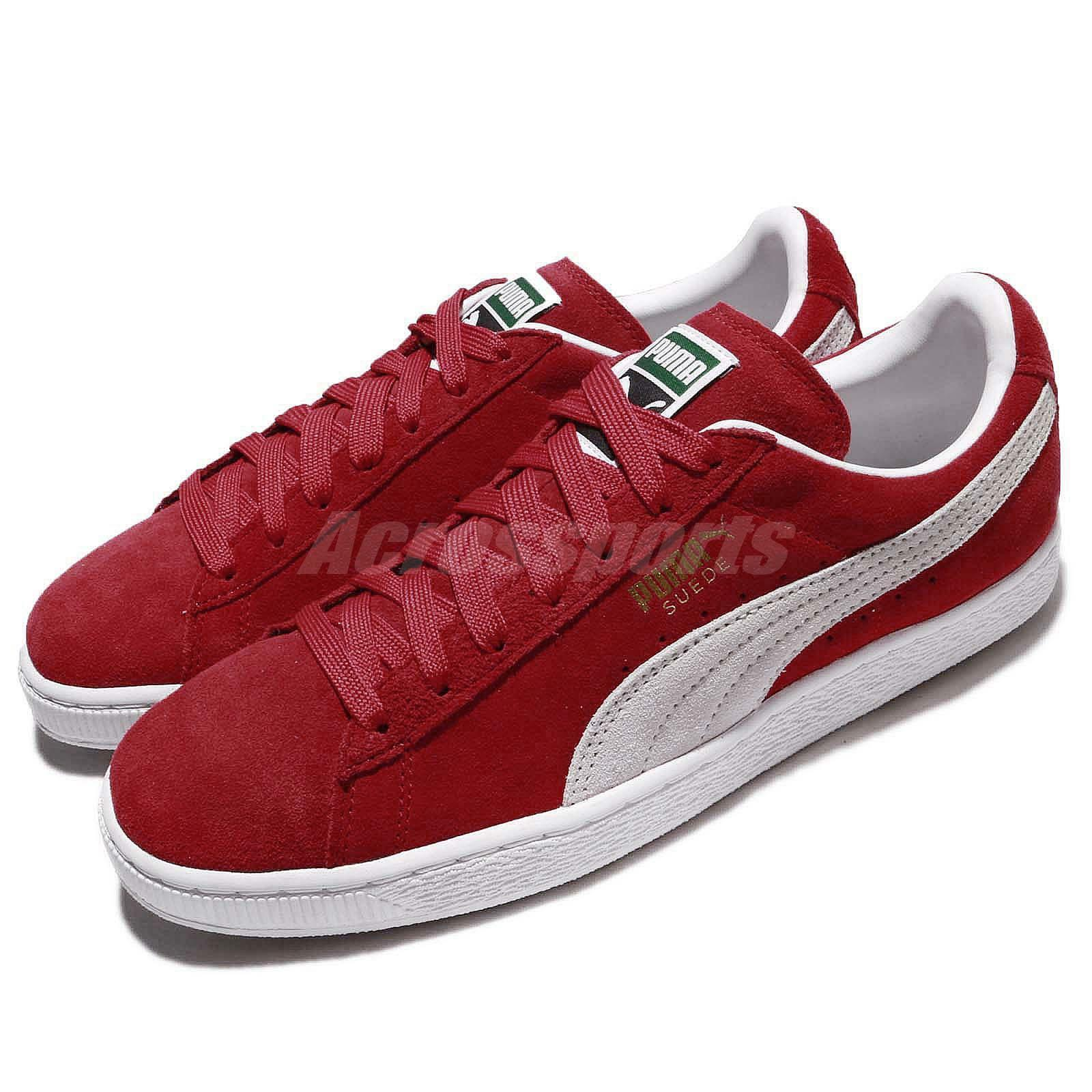 Puma Suede Classic Low Red White Men Women shoes Sneakers 352634-65