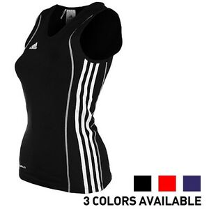 Details about adidas Ladies Sleeveless T Shirt Womens Badminton Sports Tank top T8 CLIMALITE