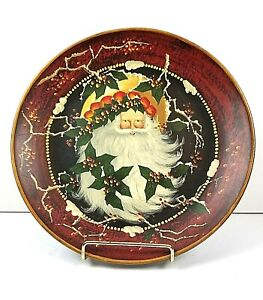2003-Home-Interiors-and-Gifts-Exquisite-Keepsake-Santa-Plate-Shelf-Wall-Display