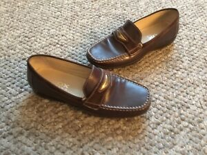 run shoes free delivery buy sale Geox Respira Ladies leather slip on brown loafers size 4 | eBay