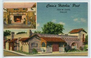 Cains Hitchin Post Barbecue Steak Restaurant Dallas Texas Linen