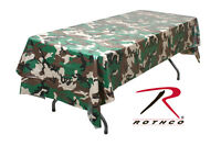 Rothco 9990 Woodland Camouflage Plastic Multi Use Tablecloth