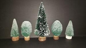Dept 56/Lemax Village Pine Tree Lot of 5pc Trees
