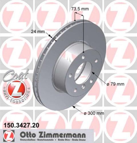 2 ZIMMERMANN Bremsscheiben 150.3427.20 BMWE81 E87 E88 E82 E90 E93 E92 E91 X1 E84