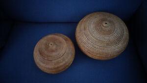 Möbel & Wohnen Badzubehör & -textilien Treu Rattan Kugelkörbe Set Bestehend Aus 2 Körben üBerlegene Materialien