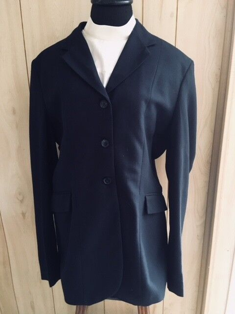 TUFF  RIDER  COMPETITION HUNT COAT Ladies 14 NAVY  100% Polyester NEW  save up to 50%