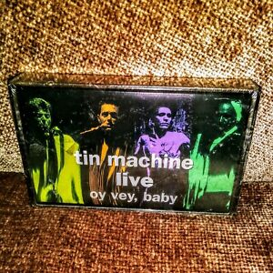 TIN MACHINE. Live: Oy Vey, Baby OUT OF PRINT CASSETTE DAVID BOWIE *Rare* SEALED!