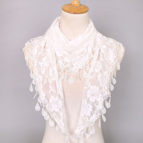 Wraps Collar Neck Scarves Triangle Dress Accessories Shawls Rose Floral Hollow