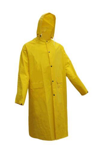 Yellow RK Safety RK-RC500 Rainwear Polyester Trench Rain Long Coat