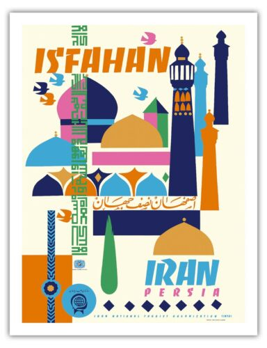 Isfahan Iran Persia Vintage World Travel Art Poster Print Giclée