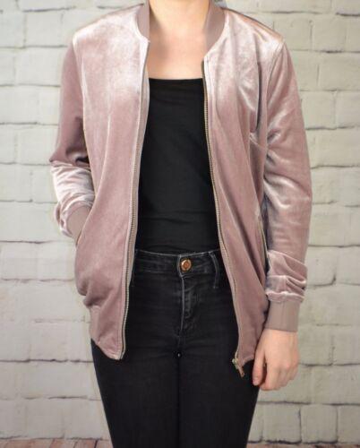 Prochain Nouveau RRP £ 36 Rose Velours Femmes Veste Manteau UK 6,8,10,12,14,16,18,20 NEUF 672