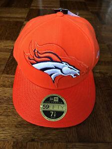 3957e2a113890 New Era 59Fifty Denver Broncos Low Profile Hat Cap 7 7 8 Orange NFL ...