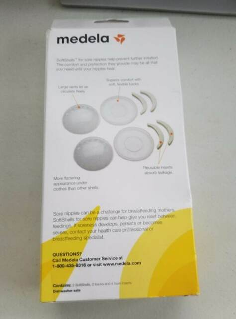 Medela Softshells Breast Shell Soothers For Inverted -5081