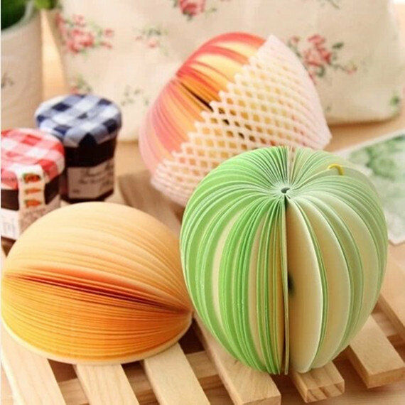 Fruit Note Memo Pads Portable Scratch Paper Notepads /US SELLER!!!