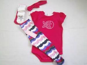 NWT NEW 12-18M 12 18 Gymboree By The Seashore Bodysuit Leggings Socks Headband 5