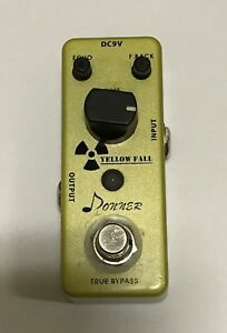donner yellow fall delay guitar effect pedal true bypass ebay. Black Bedroom Furniture Sets. Home Design Ideas