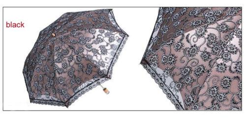 New Lace Princess Parasol Sun//Rain//Snow Anti-UV Folding Wedding Bridal Umbrella