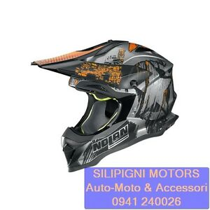 NOLAN-N53-CLIFFHANGER-27-Scratched-Chrome-Casco-Integrale-Cross-Off-Road