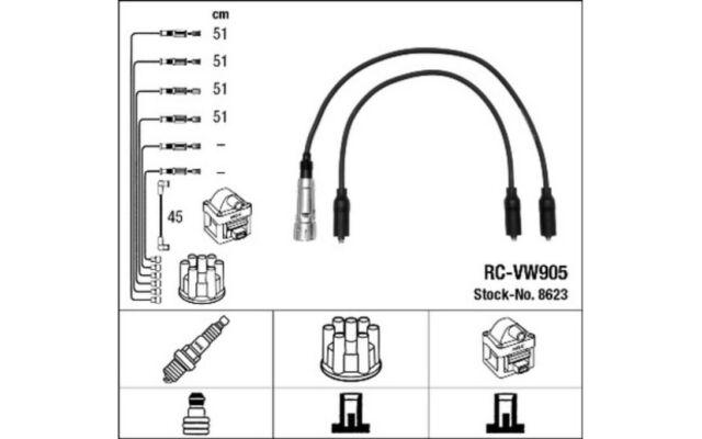NGK Cables de bujias 8623