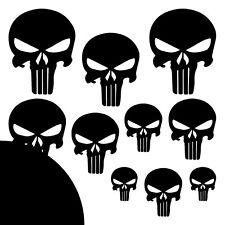 The Punisher ✔ XXL ✔ 10 Stück ✔ Aufkleber ✔ Auto ✔ Sticker ✔ Totenkopf ✔ Skull S