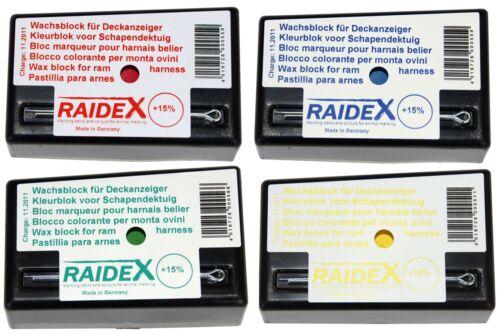 Bocksprunggeschirr Deckgeschirr 4 Farben Raidex Schafe Wachsblock Kreide f