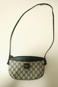 Authentic-Vintage-Gucci-Canvas-PVC-Shoulder-bag-Crossbody-Pouch-7245