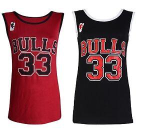 La imagen se está cargando Nuevo-Mujer-Chaqueta-Chicago-Bulls-33-Baloncesto- Camiseta- abf60e24367
