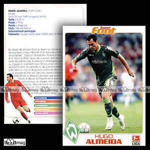 HUGO ALMEIDA (WERDER BRÊME / Sportverein Werder Bremen) - Fiche Football SF - France - HUGO ALMEIDA (WERDER BRÊME / Sportverein Werder Bremen) - Fiche Football SF - France