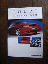 Irmscher Opel (Astra) Coupe Edition DTM Depliant / Brochure, Francais, 2.2002