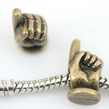10pcs antiqued bronze peace sign patterns hollow loose beads fit bracelet h5118