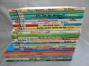 25-hardcover-kids-picture-books-DR-SEUSS-beginner-readers-lot-the-grinch