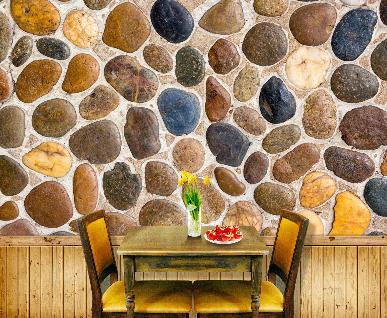 3D stone pebble pebble pebble Texture Wall Paper Print Decal Wall Deco Indoor wall Mural 5cf15b