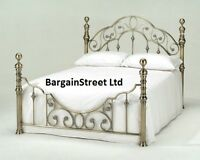 Luxury Kingsize 5ft Brass Bed Bed + Orthopedic Mattress