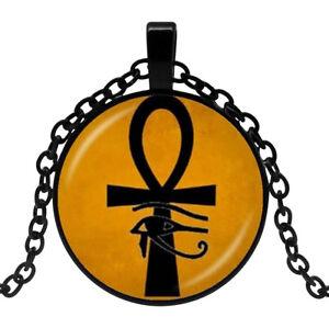 Collier-Pendentif-Croix-ansee-egyptienne-anhk-et-Oeil-d-039-horus