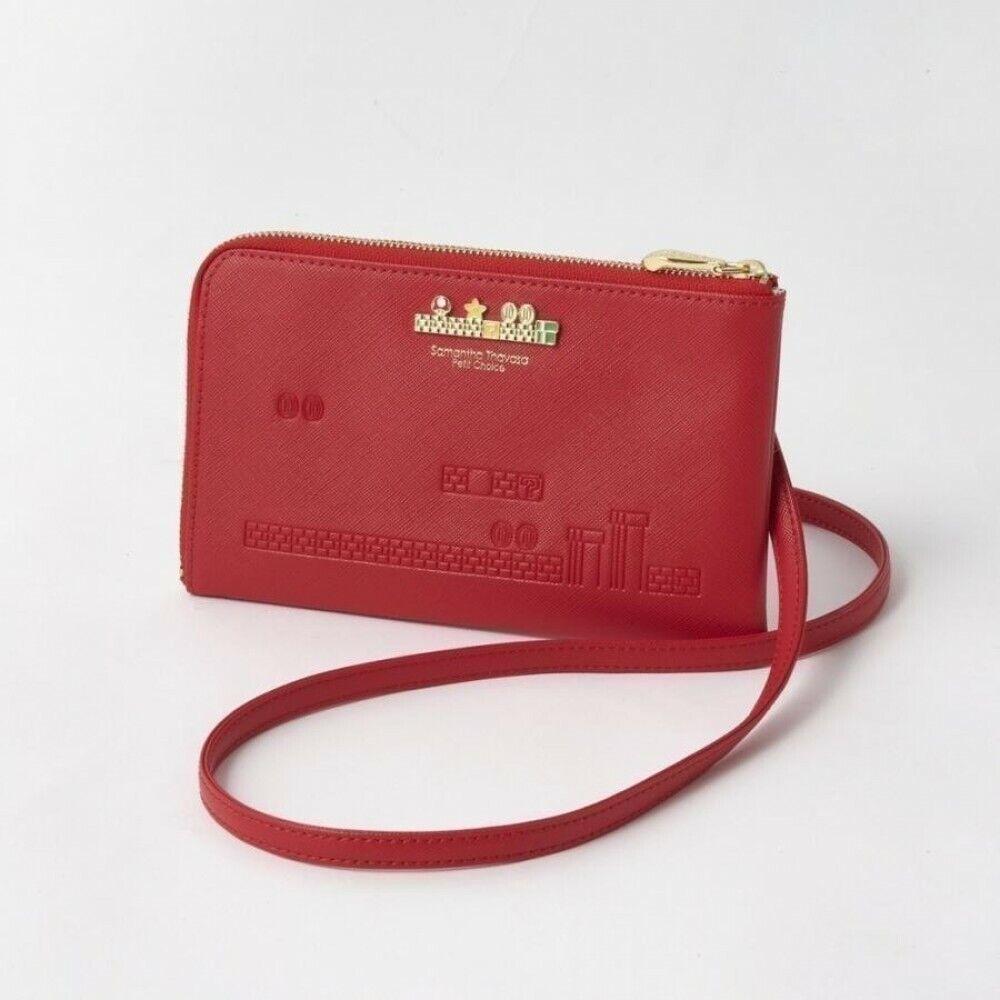 [Red] Super Mario x Samantha Thavasa Wallet Shoulder Bag Japan Limited