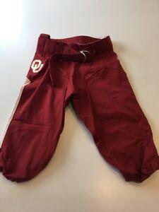 Game-Worn-Used-Oklahoma-Sooners-OU-Nike-Football-Pants-Size-32
