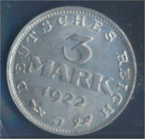 German-Empire-Jagerno-303-1922-J-UNC-3-Mark-Imperial-Eagle-7859136