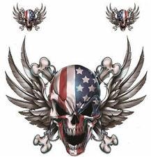 Kit Pegatinas EE.UU. Calavera con Ala Eagle con alas Pegatina Airbrush Casco