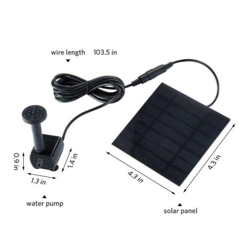 Solar Power Fountain Submersible Water Pump With Filter Panel Pond Pool 180L//h