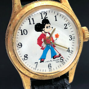 Mickey Mouse Watch Value >> Details About Walt Disney Wristwatch Vintage Retro Watch 1970 Adorable Sales Mickey Mouse Rare