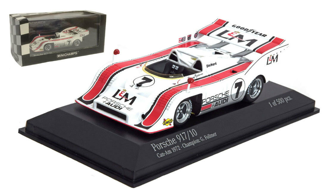Minichamps Porsche 917/10  PENSKE  può AM CHAMPION 1972-G Follmer scala 1/43