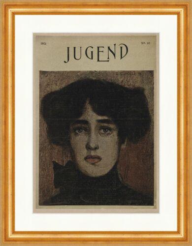 Titelseite der Nummer 10 von 1901 Oswald Gottfreid Portrait Jugend 3269 Gerahmt