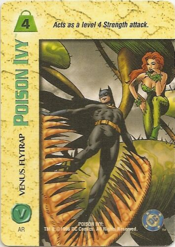 OVERPOWER Poison Ivy PLAYER SET DC hero 12 sp Poison Kiss Strangle Vines JLA OPD