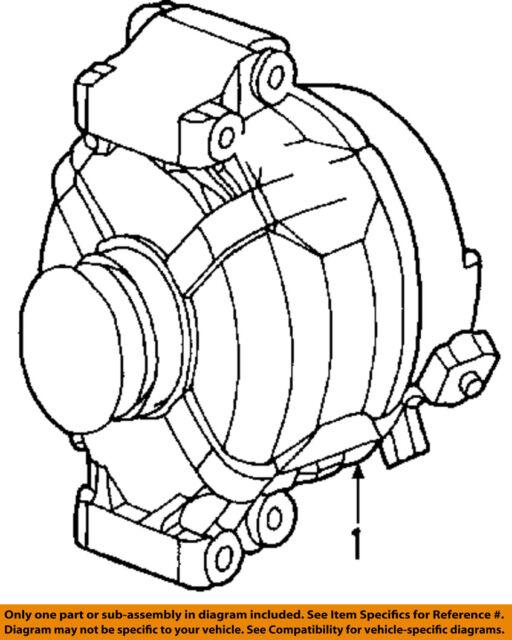 Gm 15287324 Generator 07 08 Pontiac Solstice Saturn Sky Valeo