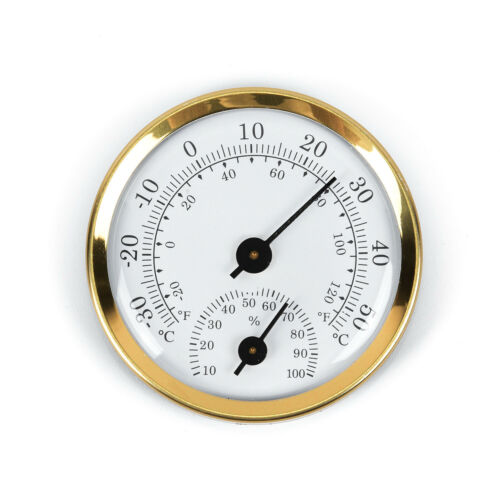 Thermometer Hygrometer Analog-Metall Luftfeuchtemesser Temperaturmesser Zimmer