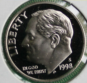 1998-S PROOF  DIME ROLL