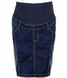Umstandsmode Umstandsrock Jeansrock Jeans Gr. S  blau NEU Rock Schwangerschaft