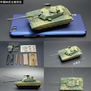 8-Style-1-72-WWI-WWII-Tank-Model-Kit-Military-World-War-USA-Germany-PLA-Toy-4D